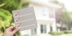 Points cochés lors d'une inspection immobilière
