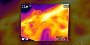 Caméra thermique pour détection de chaleur